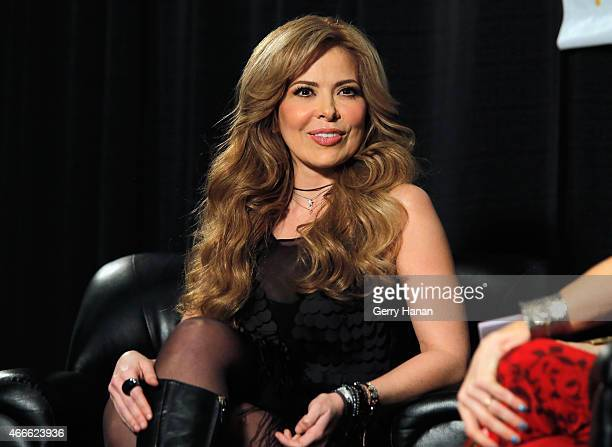 Singer/songwriter Gloria Trevi speaks at 'A Conversation with Gloria Trevi' during the 2015 SXSW Music Film Interactive Festival at Austin Convention...