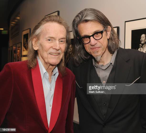 Singer/songwriter Gordan Lightfoot and Vice President of the GRAMMY Foundation Scott Goldman pose before an evening with Gordon Lightfoot at The...