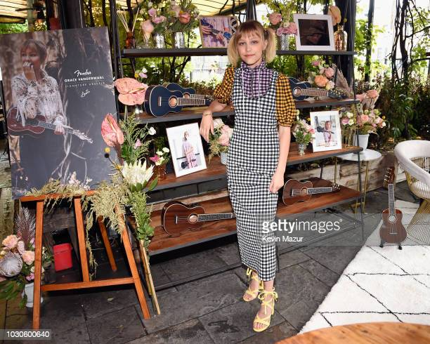 Singersongwriter Grace VanderWaal introduces her new Fender Artist Signature Ukuleles officially available October 2 at Gallow Green at The...