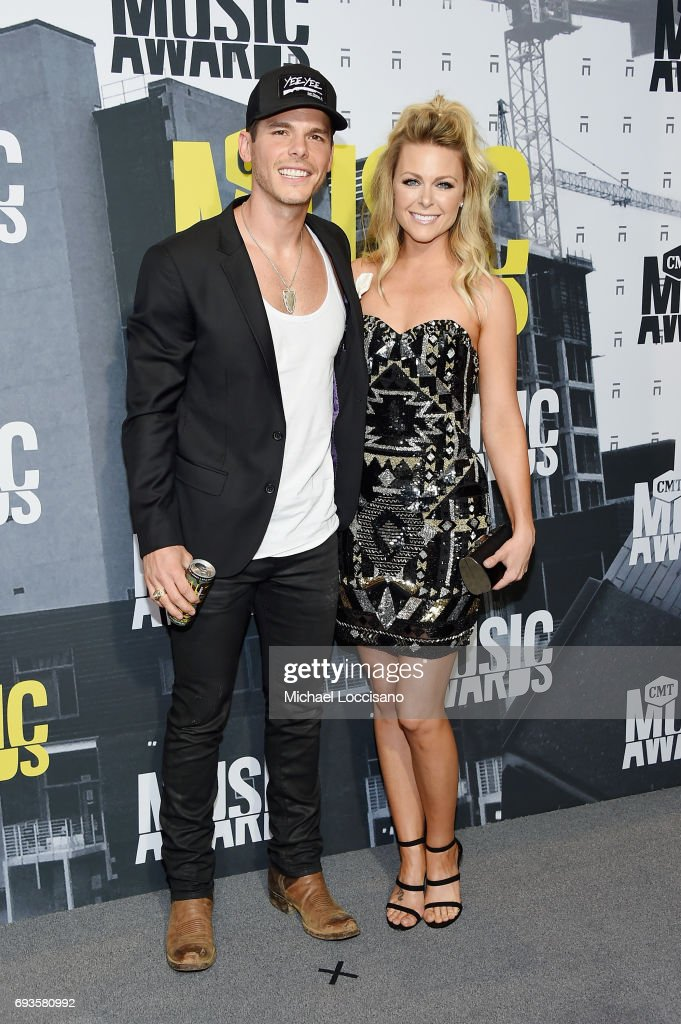 Singer-songwriter Granger Smith and actress Amber Bartlett Smith attend the 2017 CMT Music Awards at the Music City Center on June 7, 2017 in Nashville, Tennessee.