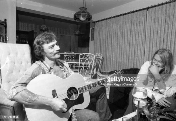 Singer/songwriter Gregg Allman and Dickey Betts are photographed at home in August 1975 CREDIT MUST READ Ken Regan/Camera 5 via Contour by Getty...