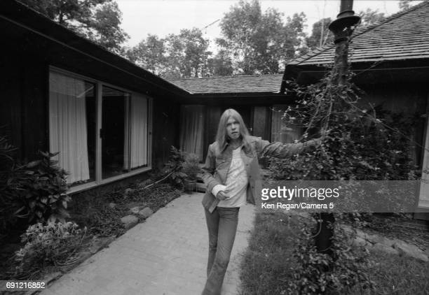 Singer/songwriter Gregg Allman of the Allman Brothers Band is photographed at home in August 1975 CREDIT MUST READ Ken Regan/Camera 5 via Contour by...