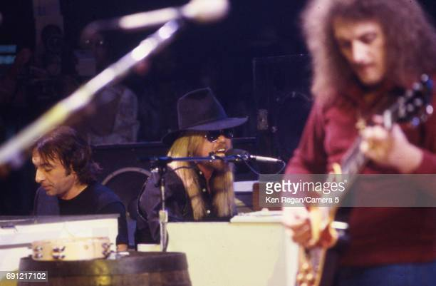 Singer/songwriter Gregg Allman of the Allman Brothers Band is photographed at Madison Square Garden in New York City on October 31 1986 CREDIT MUST...