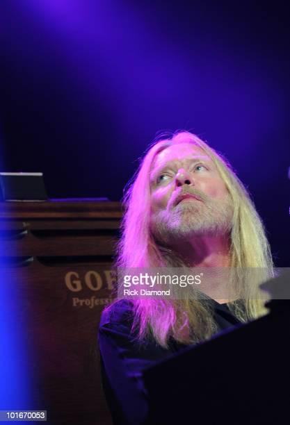 Singer/Songwriter Gregg Allman performs during the 2010 BamaJam Music Arts Festival at the corner of Hwy 167 and County Road 156 on June 5 2010 in...