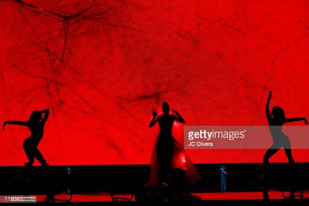 Singer/songwriter Grimes performs onstage during The Game Awards 2019 at Microsoft Theater on December 12, 2019 in Los Angeles, California.