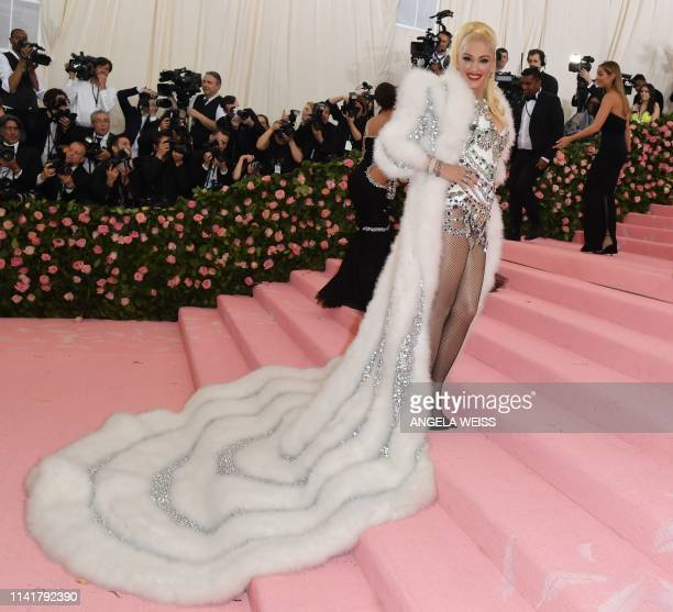 US singersongwriter Gwen Stefani arrives for the 2019 Met Gala at the Metropolitan Museum of Art on May 6 in New York The Gala raises money for the...