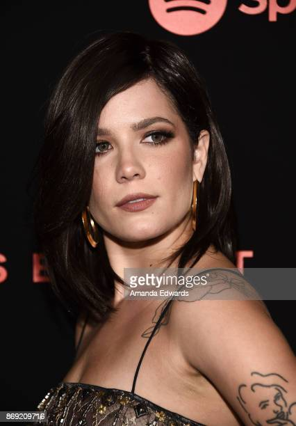 Singersongwriter Halsey arrives at Spotify's Inaugural Secret Genius Awards on November 1 2017 in Los Angeles California