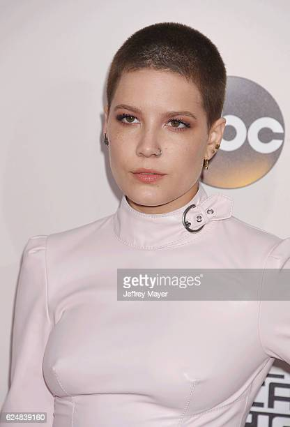 Singersongwriter Halsey arrives at the 2016 American Music Awards at Microsoft Theater on November 20 2016 in Los Angeles California