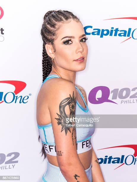 Singersongwriter Halsey attends Q102's Jingle Ball 2017 Presented by Capital One at Wells Fargo Center on December 6 2017 in Philadelphia Pennsylvania