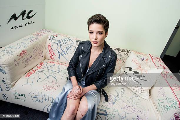 Singer/songwriter Halsey visits Music Choice on April 28 2016 in New York City