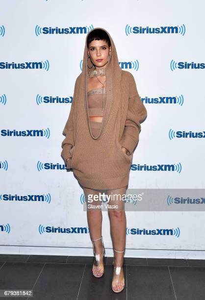 Singer/songwriter Halsey visits SiriusXM Studios on May 5, 2017 in New York City.