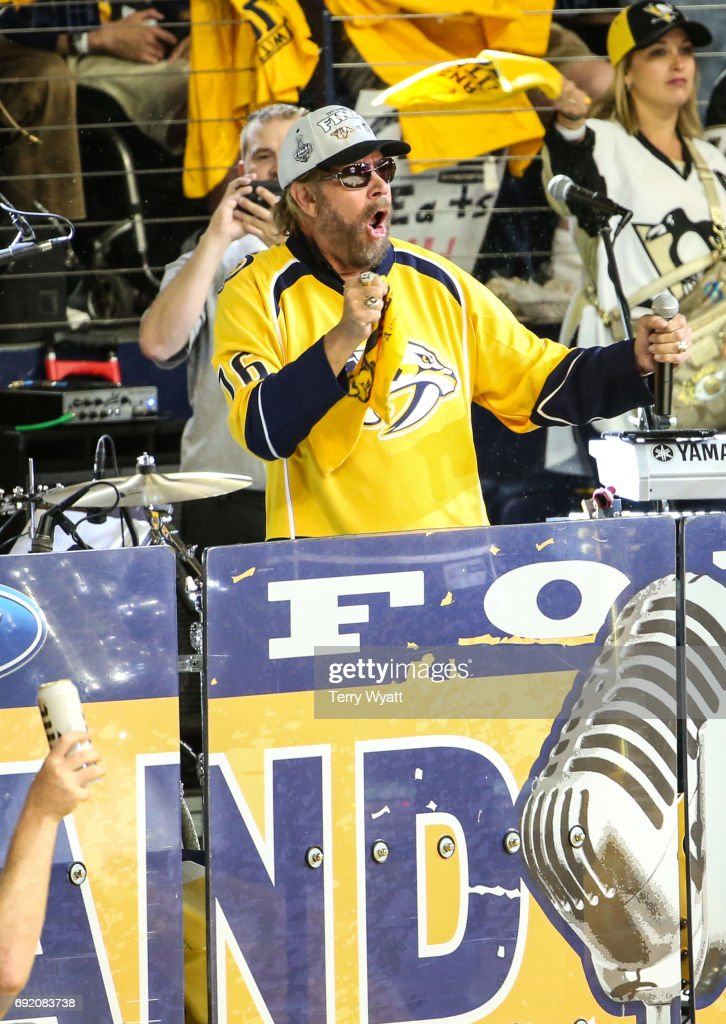Singer-songwriter Hank Williams Jr. attends the Stanley Cup Finals Game 3 Nashville Predators Vs. Pittsburgh Penguins at Bridgestone Arena on June 3, 2017 in Nashville, Tennessee.