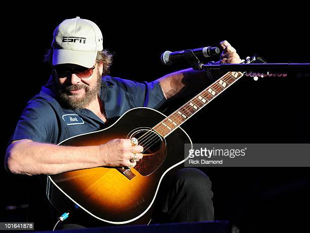 Singer/Songwriter Hank Williams Jr. Performs during the 2010 BamaJam Music & Arts Festival at the corner of Hwy 167 and County Road 156 on June 4,...