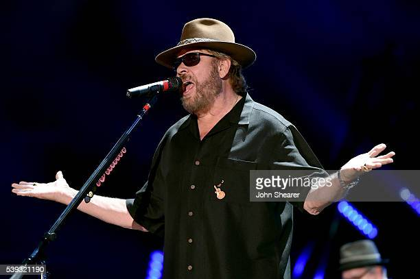 Singer-songwriter Hank Williams Jr. Performs onstage during 2016 CMA Festival - Day 2 at Nissan Stadium on June 10, 2016 in Nashville, Tennessee.