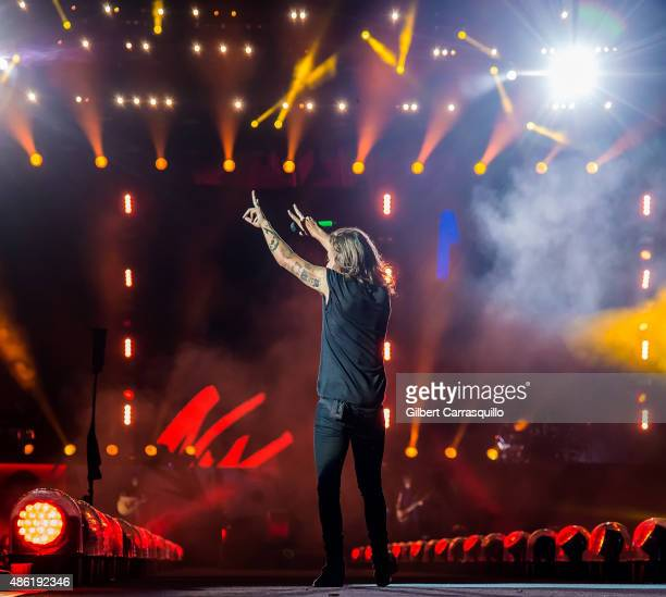 Singer/songwriter Harry Styles performs during On the Road Again Tour 2015 at Lincoln Financial Field on September 1 2015 in Philadelphia Pennsylvania