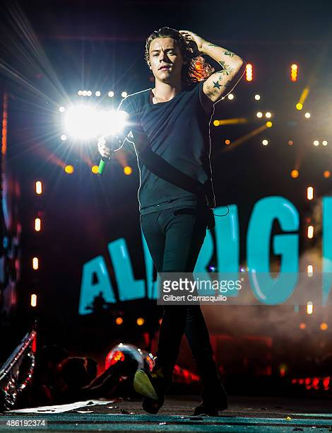 Singer/songwriter Harry Styles performs during On the Road Again Tour 2015 at Lincoln Financial Field on September 1, 2015 in Philadelphia,...
