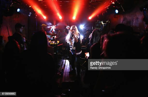 Singersongwriter Hayley Kiyoko performs onstage at MTV's 'Wonderland' LIVE Show on October 20 2016 in Los Angeles California