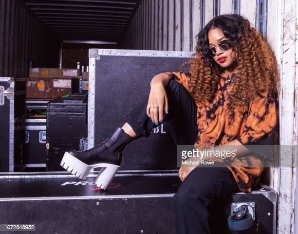Singer/songwriter HER is photographed for Essence Magazine on July 6 2018 at Essence Fest in New Orleans Louisiana PUBLISHED IMAGE
