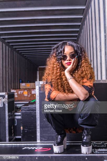 Singer/songwriter HER is photographed for Essence Magazine on July 6 2018 at Essence Fest in New Orleans Louisiana