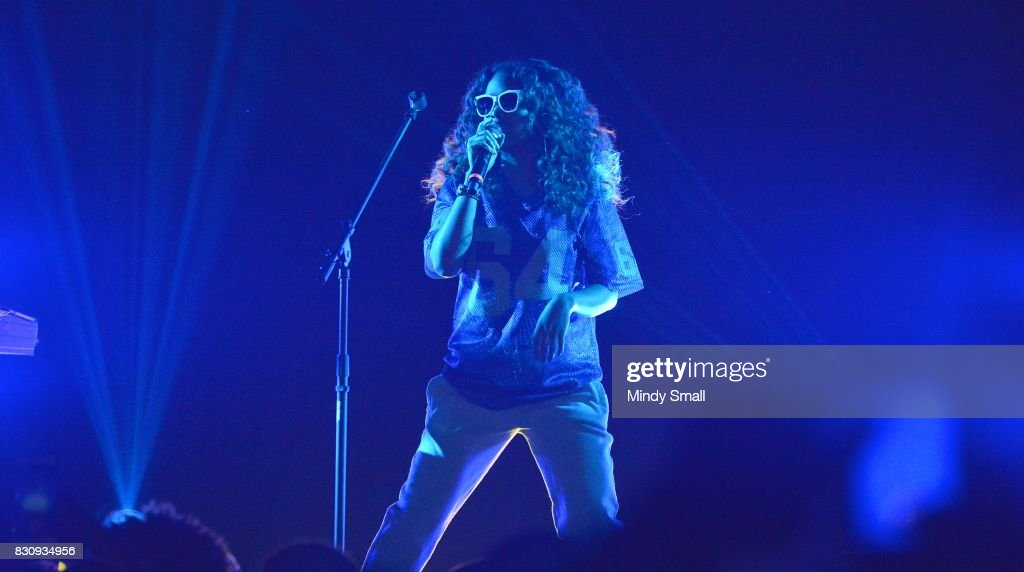 Singer/songwriter H.E.R. performs at The Joint inside the Hard Rock Hotel & Casino on August 12, 2017 in Las Vegas, Nevada.