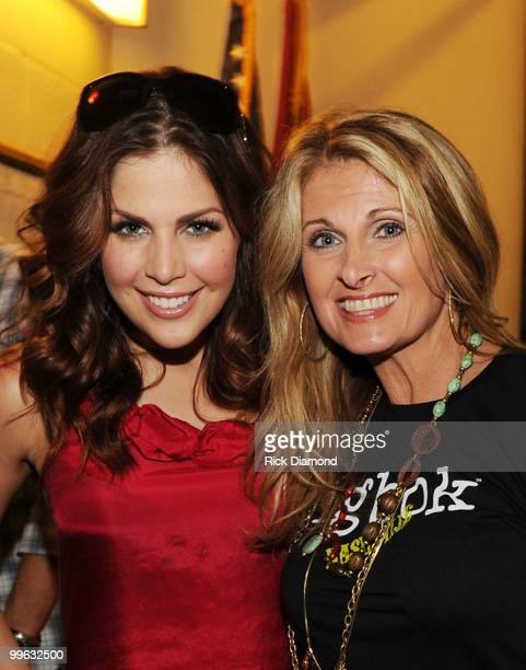 "Singer/Songwriter Hillary Scott of Lady Antebellum and Her Mother Singer/Songwriter Linda Davis backstage during the ""Music City Keep on Playin'""..."