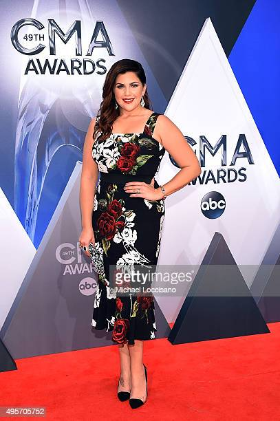 Singersongwriter Hillary Scott of Lady Antebellum attends the 49th annual CMA Awards at the Bridgestone Arena on November 4 2015 in Nashville...
