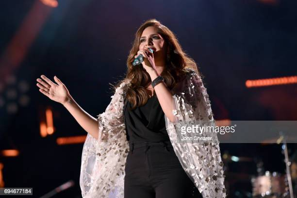 Singer-songwriter Hillary Scott of Lady Antebellum performs onstage of day 3 at the 2017 CMA Music Festival on June 10, 2017 in Nashville, Tennessee.