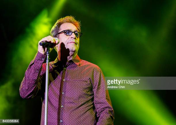 Singersongwriter Huey Lewis of Huey Lewis and the News performs on stage during Summer NIght Concert Series at PNE Amphitheatre on August 27 2017 in...