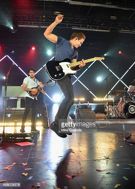 Singer/songwriter Hunter Hayes performs during the Hunter Hayes' Tattoo Tour at Best Buy Theater on October 28 2014 in New York City