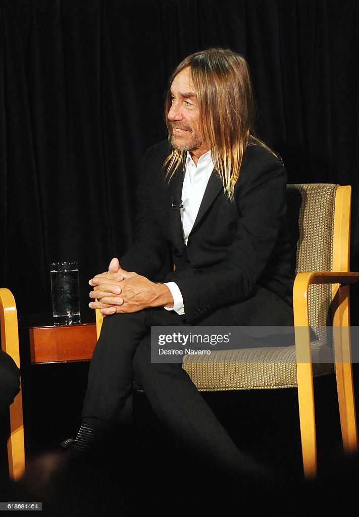 Singer-songwriter Iggy Pop attends TimesTalks at DGA Theater on October 27, 2016 in New York City.