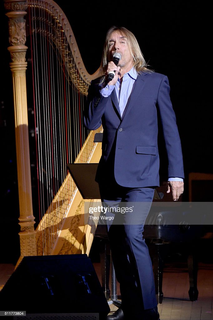 Singer-songwriter Iggy Pop performs onstage at the 26th Annual Tibet House U.S. benefit concert at Carnegie Hall on February 22, 2016 in New York City.