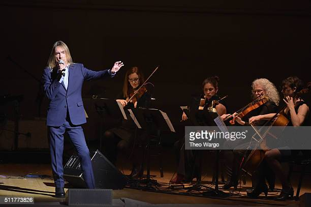 Singersongwriter Iggy Pop performs onstage at the 26th Annual Tibet House US benefit concert at Carnegie Hall on February 22 2016 in New York City