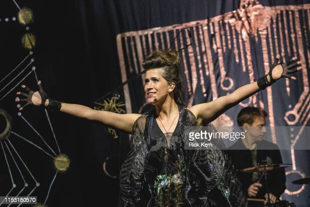 Singersongwriter Imogen Heap performs in concert during the 'Mycelia World Tour' at ACL Live on June 01 2019 in Austin Texas