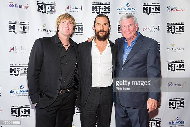 Singersongwriter Jack Ingram actor Matthew McConaughey and former Texas Longhorns football coach Mack Brown arrive at the third Mack Jack McConaughey...