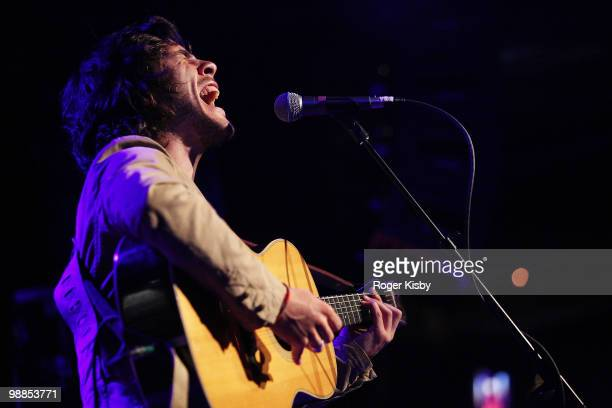 Singer/songwriter Jack Savoretti performs onstage at the City Winery on May 4 2010 in New York City