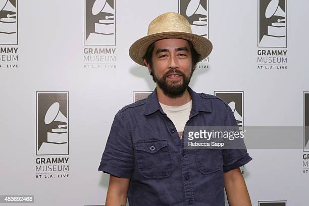 Singer/songwriter Jackie Greene attends The Drop Jackie Greene at The GRAMMY Museum on August 11 2015 in Los Angeles California
