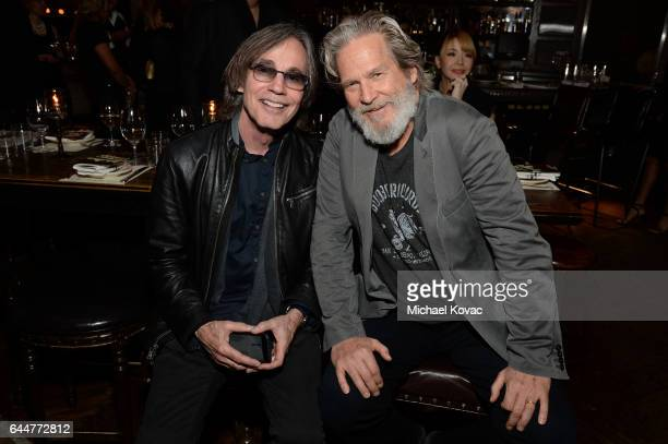 Singersongwriter Jackson Browne and actor Jeff Bridges attend BOVET 1822 Artists for Peace and Justice Present Songs From the Cinema Benefit on...