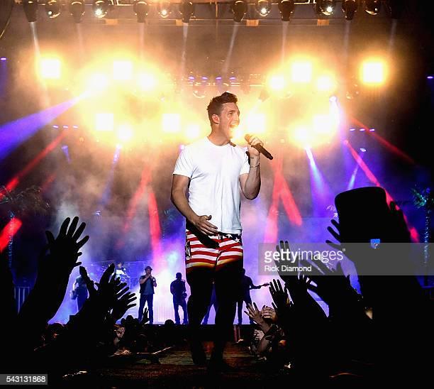 Singer/Songwriter Jake Owen performs at Kicker Country Stampede Manhattan Kansas Day 3 on June 25 2016 in Manhattan Kansas