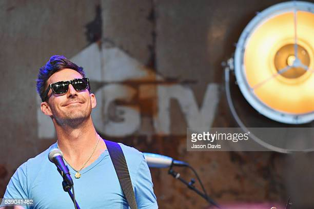 Singersongwriter Jake Owen performs on stage at the HGTV Lodge at CMA Music Fest on June 9 2016 in Nashville Tennessee