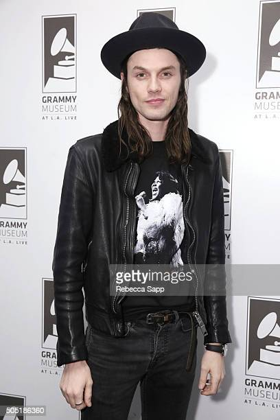 Singer/songwriter James Bay attends Spotlight James Bay at The GRAMMY Museum on January 15 2016 in Los Angeles California