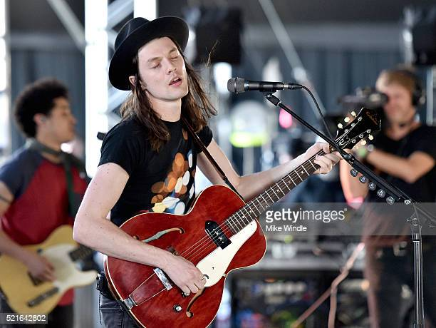 Singersongwriter James Bay performs onstage during day 2 of the 2016 Coachella Valley Music Arts Festival Weekend 1 at the Empire Polo Club on April...