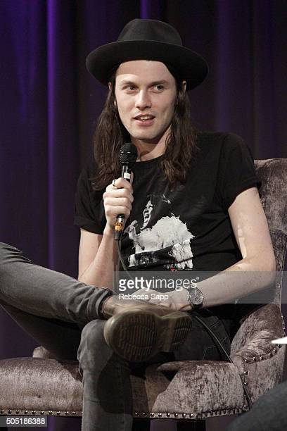 Singer/songwriter James Bay speaks onstage at Spotlight James Bay at The GRAMMY Museum on January 15 2016 in Los Angeles California