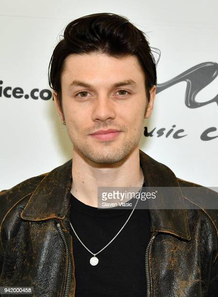 Singer/songwriter James Bay visits Music Choice on April 4 2018 in New York City
