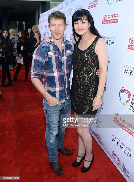 Singersongwriter James Blunt and actress Pauly Perrette attend An Evening with Women benefiting the Los Angeles LGBT Center at the Hollywood...