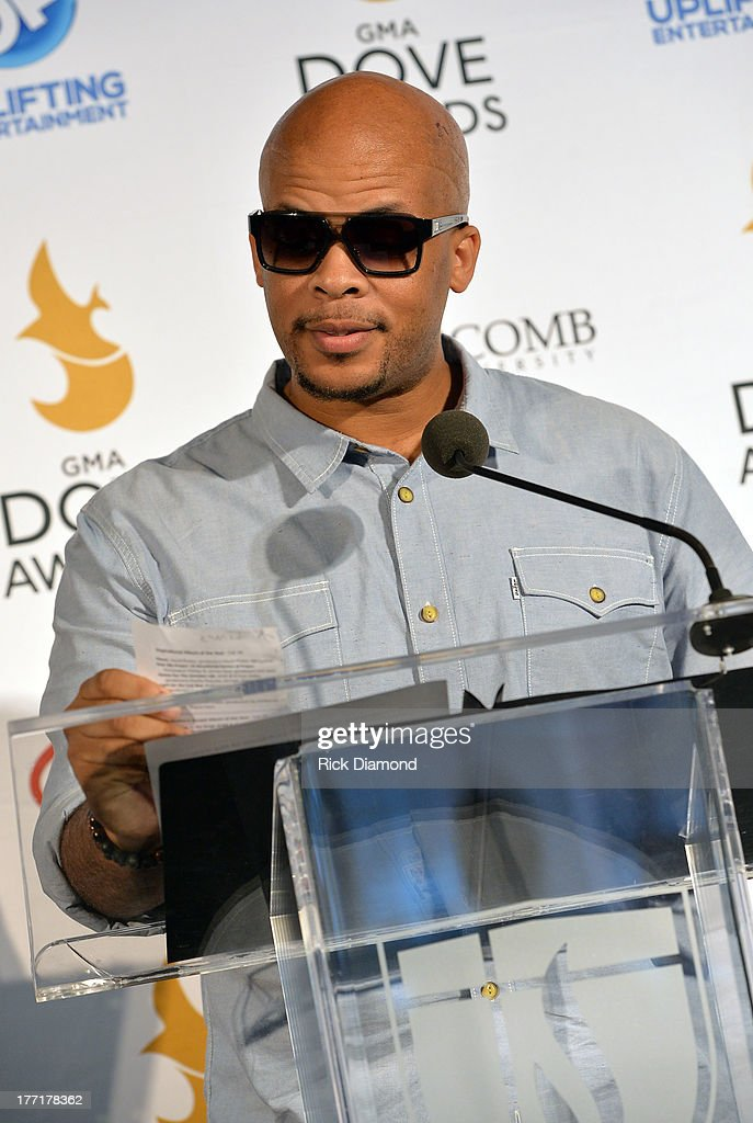Singer/Songwriter James Fortune, announces nominations for The 44th Annual GMA Dove Awards Nominations Press Conference at Allen Arena, Lipscomb University on August 21, 2013 in Nashville, Tennessee.