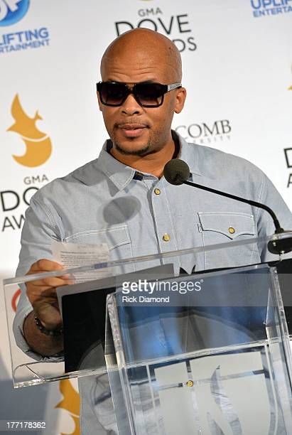 Singer/Songwriter James Fortune, announces nominations for The 44th Annual GMA Dove Awards Nominations Press Conference at Allen Arena, Lipscomb...