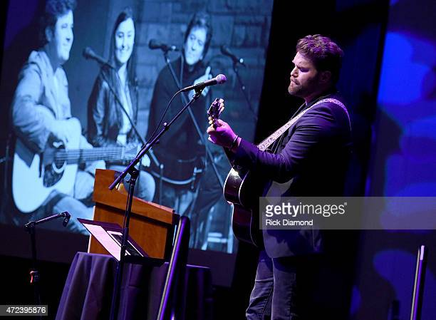 Singer/Songwriter James Otto performs during Working On A Building' Capital Campaign Dinner at the Country Music Hall of Fame and Museum on May 6...