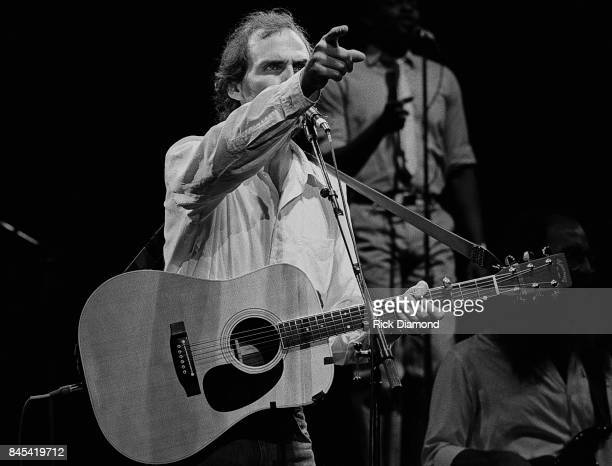 Singer/Songwriter James Taylor performs at The Atlanta Civic Center in Atlanta Georgia May 13 1981