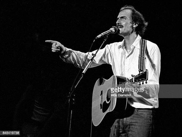 Singer/Songwriter James Taylor performs at The Atlanta Civic Center in Atlanta Georgia May 13, 1981