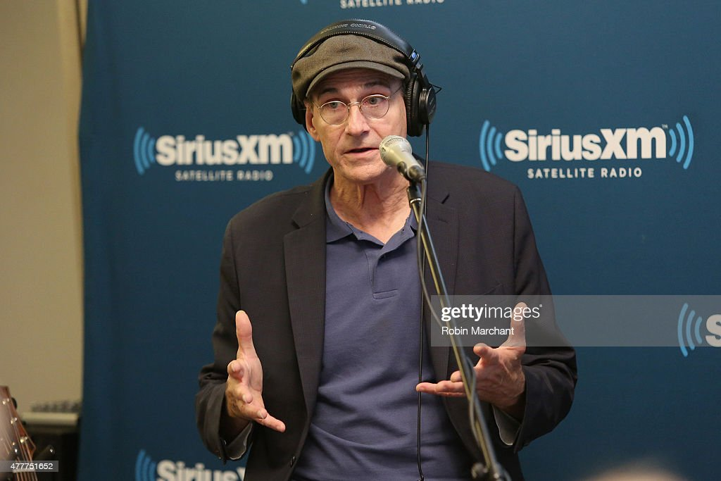 Singer-songwriter James Taylor speaks during SiriusXM's 'Town Hall' with James Taylor hosted by Bob Costas at SiriusXM Studio on June 19, 2015 in New York City.